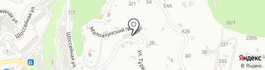 Хоста Окна на карте Сочи
