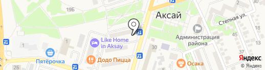 Огонек на карте Аксая