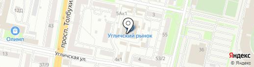 Beclever на карте Ярославля