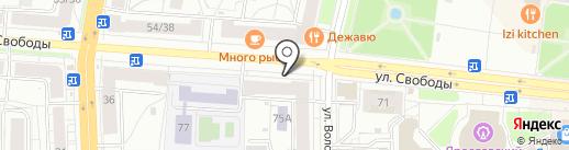 Клюква на карте Ярославля