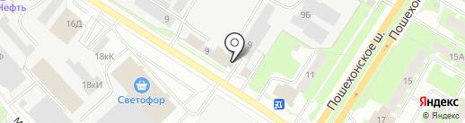 Тепличный Вологда на карте Вологды
