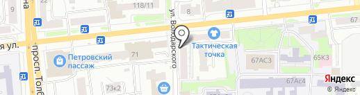 Магазин женской одежды на карте Ярославля