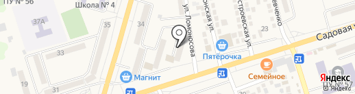 Новосел на карте Аксая