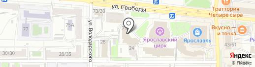 Ярославский индустриальный парк на карте Ярославля