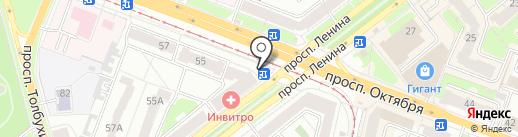 Федотики на карте Ярославля