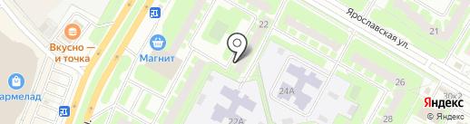 Топограф на карте Вологды