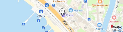 ХОСТА на карте Сочи