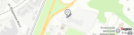 Аконит на карте Вологды