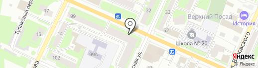 Комиссионный магазин на карте Вологды