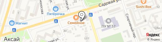 Раки Маныч на карте Аксая