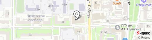 Мефферт Ярославль на карте Ярославля