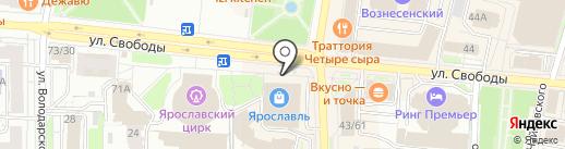 Шапочка на карте Ярославля