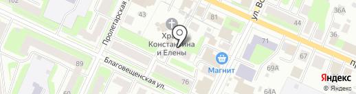 Инвестстройпроект на карте Вологды