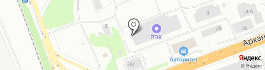 Автоскоп на карте Северодвинска
