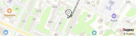 Александровская вода на карте Вологды