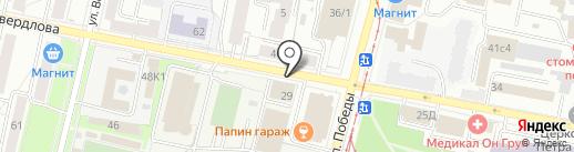 Дом роз на карте Ярославля