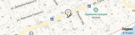 Продовольственный магазин на карте Аксая