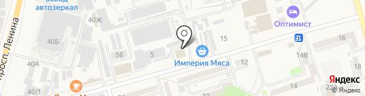 Парк на карте Аксая
