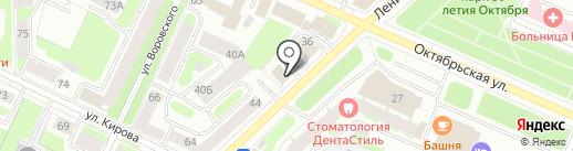 АБВ на карте Вологды