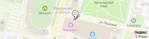 Табак на карте Ярославля