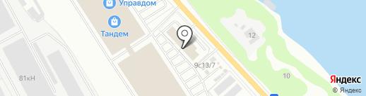 Троя на карте Ярославля