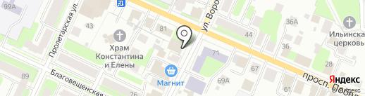 Юридический кабинет Малявко Н.В. на карте Вологды