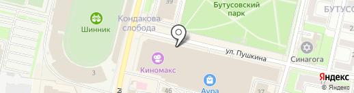 Кофетун Сушитун на карте Ярославля