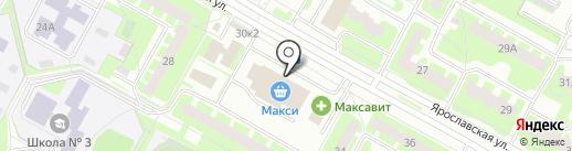 Банкомат, Банк ВТБ 24, ПАО на карте Вологды