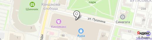 Грифель на карте Ярославля