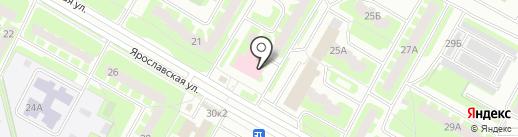Светлый дом на карте Вологды