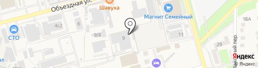 Стелла на карте Аксая