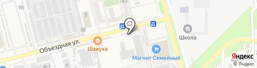 Мегалит на карте Аксая