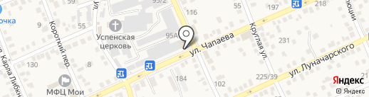 Бизнес-квартал на карте Аксая