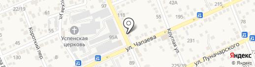 Южный Город-Аксай на карте Аксая