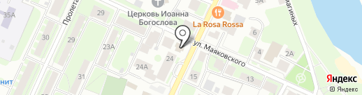 Вологжанин на карте Вологды