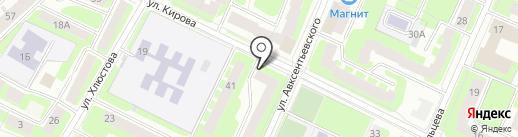 Городская библиотека №7 на карте Вологды