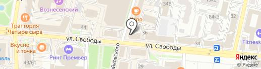 Винотун на карте Ярославля