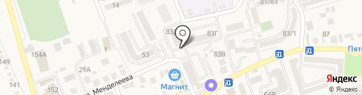 Янтарное на карте Аксая