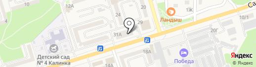 Березка на карте Аксая