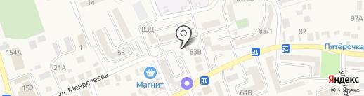 Киоск по продаже фруктов и овощей на карте Аксая