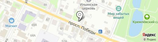 НЕВА на карте Вологды