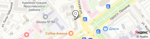 5 БУКВ на карте Ярославля