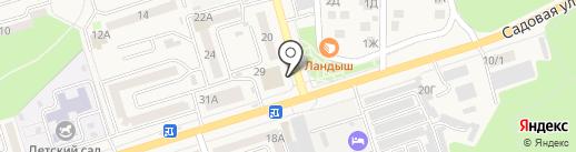Магазин автотоваров на карте Аксая
