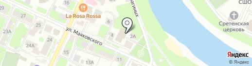 Пожарная часть №4 на карте Вологды