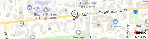 Авторадио, FM 104.5 на карте Ярославля