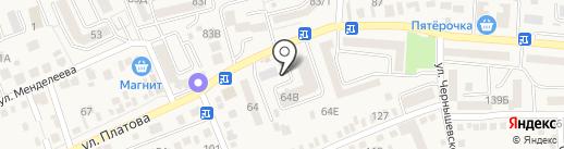 Магазин овощей и фруктов на карте Аксая