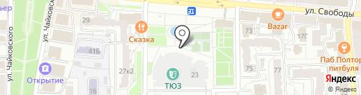 Театр юного зрителя на карте Ярославля