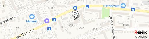 Энап на карте Аксая