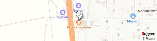 Киоск фастфудной продукции на карте Дорожного