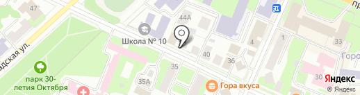 Вологодский дом архитекторов на карте Вологды